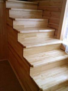 Лестница из сосны ЛС-91М+1 ступень сверху - купить в